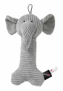 """PetRageous Puppyrageous Bone Dog Size 9.5"""" Pet Toy Gray Stuffed with Polyester"""