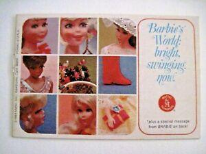 "1968 Booklet ""Barbie's World"" Introducing The New Talking ""Barbie & Ken Dolls"" *"