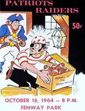 1964 AFL GAME PROGRAM PHOTO OAKLAND RAIDERS VS BOSTON PATRIOTS 8x10