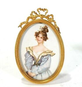 Beautiful Antique Brass Oval Picture Frame