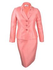 Le Suit Women's Petite Shimmer Skirt Suit (16P, Apricot)