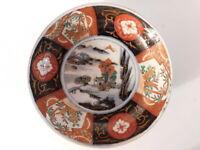 "Antique Japanese Imari Hand Painted Porcelain Plate Bowl  7"" D"