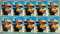 1987 - Fleer #U-76 - Mark McGwire Oakland A's - Rookie RC - 10ct Card Lot