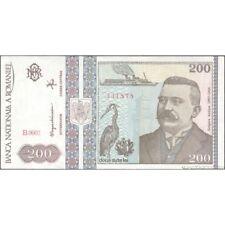 TWN - ROMANIA 100a - 200 Lei DEC 1992 UNC Prefix B.0002