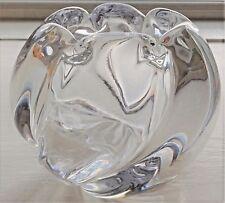 Vintage Orrefors Glass Vase by Edvin Öhrström Signed FU 2444/5 c.1941 13 cm diam