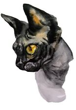 Black Devon Rex Cat art original watercolor painting,pet lover best gift