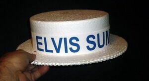 1970S ELVIS PRESLEY SUMMER FESTIVAL PROMOTIONAL HAT (BLUE) UNUSED FREE SHIPPING!