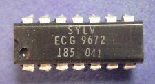 ECG9672    ECL QUAD 2 INPUT NAND GATE    SYLVANIA