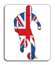 Best of British Sports, Footballer/Soccer Mouse Mat - Union Jack Flag