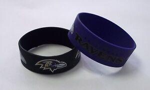 Baltimore Ravens Wrist Bands Rubber Bracelets