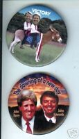 2 John EDWARDS + John KERRY 2004 pins