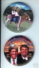 2 John EDWARDS + John KERRY 2004 pins