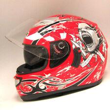 NEW Motorcycle Dual Visor/Lens Full Face Helmet Soar Monster Red S M L XL XXL