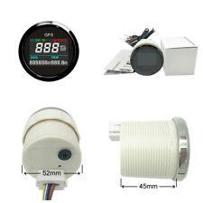 52mm Motorcycle Digital LCD GPS Speedometer Anti-Fogging 0~999 MPH, Knots,Km/h