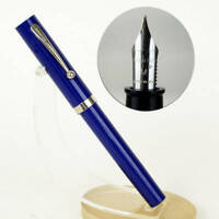 Vintage sheaffer no nonsense opaque blue barrel fountain pen - 1970 NOS - M nib