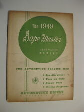 The 1949 Dope-Master Automotive Digest for 1948-1949 MODELS