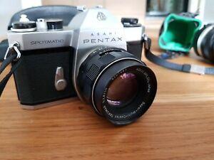 Asahi Pentax Spotmatic SP II mit 3 Objektive Super-Takumar 1:1,8/55mm
