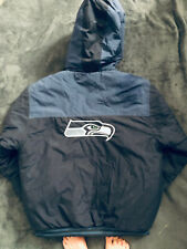 New listing Seattle Seahawks NFL Pro Line Puffer Jacket Mens L Quilted