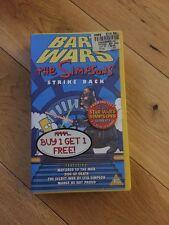 The Simpson Bart Wars Strike Back 4 Episodes Vhs Video Tape Retro