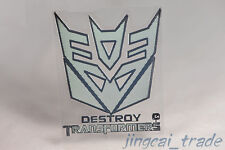 Polished Chrome Destroy Transformers Decepticon Car Badge Emblem Sticker Decal