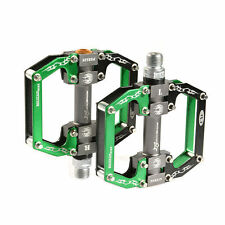 RockBros MTB Mountain Bike Platform Pedals Aluminum Alloy Sealed Bearing Green