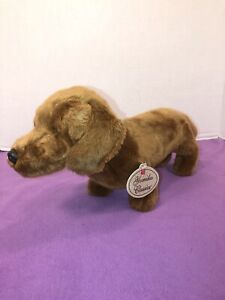 "EUC-16"" Yomiko Classics Plush Dachshund Wiener Dog Brown"