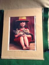 Paint Girl By H. Valladares Repro With Certificate Of Authenticity 1/25 L.E.