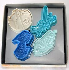 Set of 4 Star wars Pastry & Sugarcraft Ejector Plunger Cutters moulds