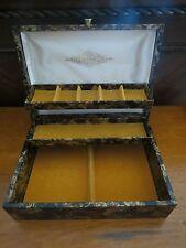 Wood Box Organizer / Trinket Box - Gold Color Interior