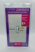 Lutron Dimmer,Single Pole , Q-600PH-WH, 600W