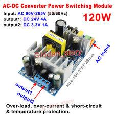 120 W AC-DC Convertisseur AC 110 V 220 V 230 V à DC 24V/3.3V Dual Output Transformer