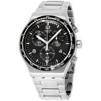 Swatch Irony Quartz Movement Black Dial Men's Watch YVS444G **Open Box**