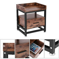 Side Table Sofa End Coffee w/ Drawer Storage Bedside Living Room - G-trade US❤