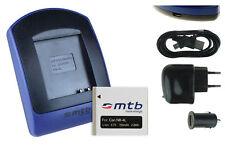 Chargeur+Batterie (USB) NB-4L pour Canon IXY 10, 40, 45, 50, 60, 65, 70, 75