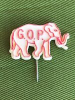 Vintage GOP Republican Red White Elephant Pin