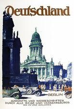 Travel Germany Berlin Art Deco Dzubas Deutschland  Holiday Vacation Poster Print