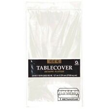 Clear See Through Tablecloth Rectangle Plastic Table Cover 274cm x 137cm 7701586