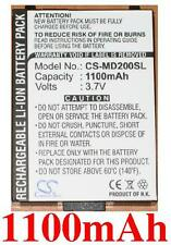Battery 1100mAh Type 40009364 BP-LP1000 for Medion MD95200