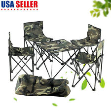 Folding Table & Chair Set Cool Camo Camping Desk Stool With Carry Bag USA