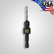 Snappy 82 Degree Countersink for #6-8 Screws 7/64in. Drill Bit x 3/8 Bore USA