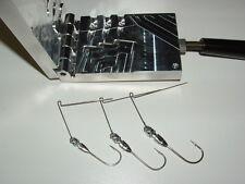 Freshwater Spinnerbait Hidden Weight -4  mold 1/8, 3/16, 1/4 oz CNC Aluminum