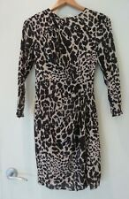 Whistles (UK) silk blend animal print dress, size 8, excellent used condition