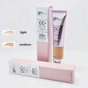 IT COSMETICS CC+ CREAM MEDIUM/LIGHT ILLUMINATION SPF50+FULL COVERAGE FOUNDATI