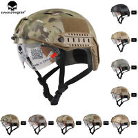 Emerson Tactical BJ Type FAST Helmet Protective Bump Base Jump Helmet w/ Glasses