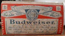 Vintage Budweiser Salt & Pepper Shakers in Original Box