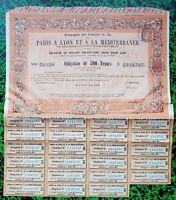 Dépt 75 Siège à Paris - Beau Décor Célèbre Cie des Chemins Fer P.L.M. de 1909