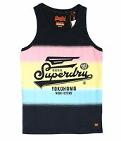 Superdry Mens Shirt Eclipse Blue Size Medium M Tank Fade Logo Classic $29 118