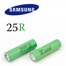 2x Samsung 18650 2500mAh 25R Lithium Rechargeable Battery INR18650-25R VAP E-Cig