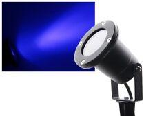 Gartenstrahler mit Erdspieß 3W Power LED blau wasserdicht IP68 230V GU10