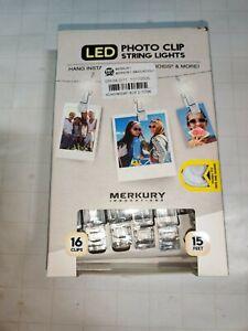 Merkury Mini LED Photo Clip String Lights - White (MI-LSCT1-199) Ships 🆓